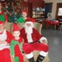 Santa to breakfast with area children