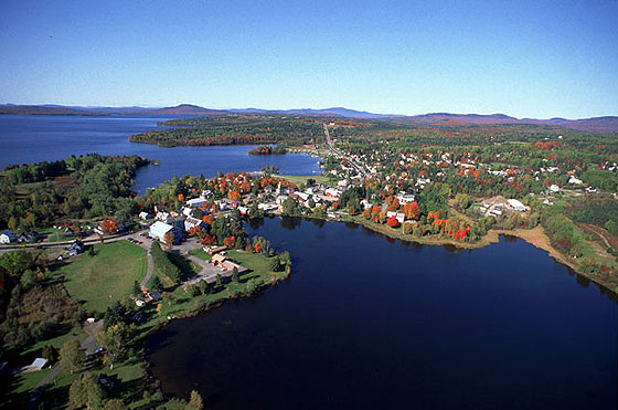 Rangeley Aerial View