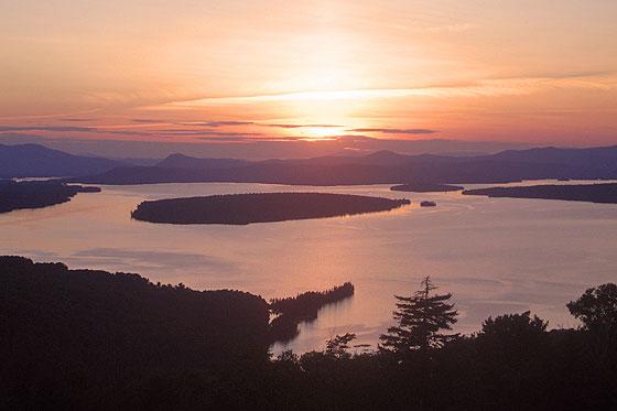 Sunset over Mooselookmeguntic Lake