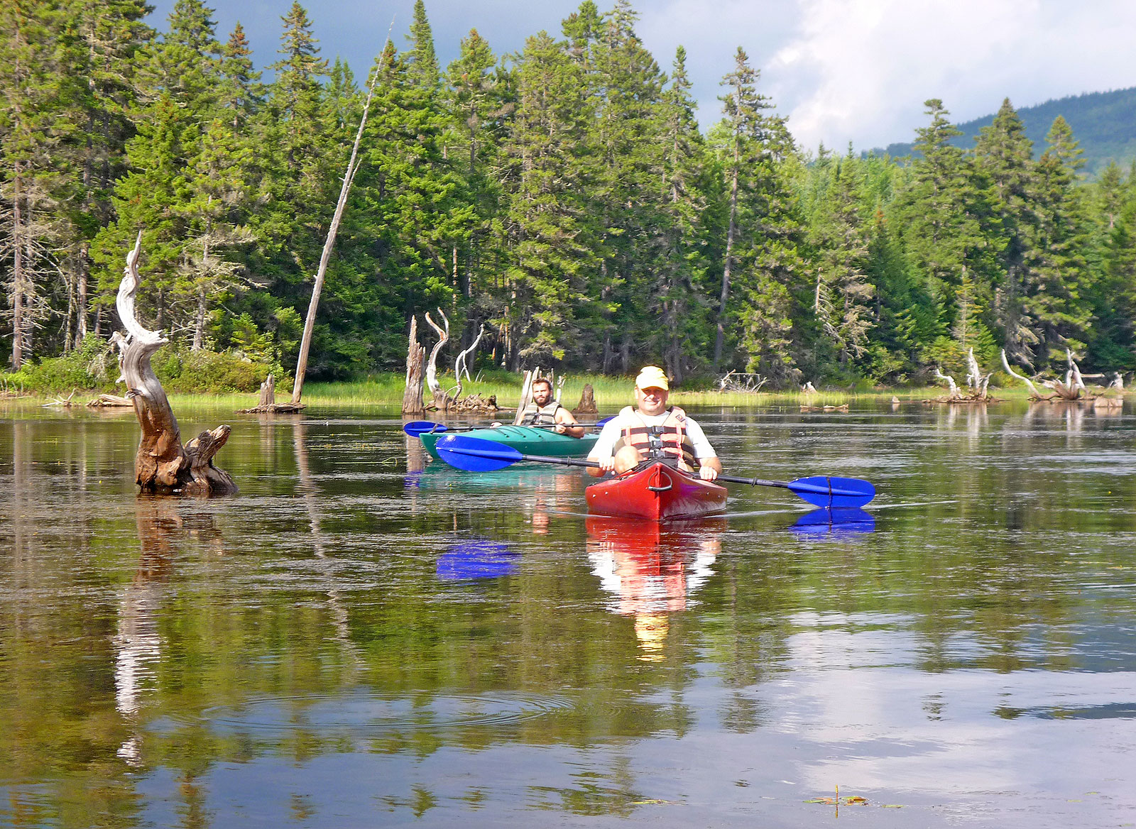 Kayaking in the Rangeley Lakes Region