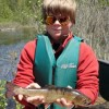 Young man with brook trout
